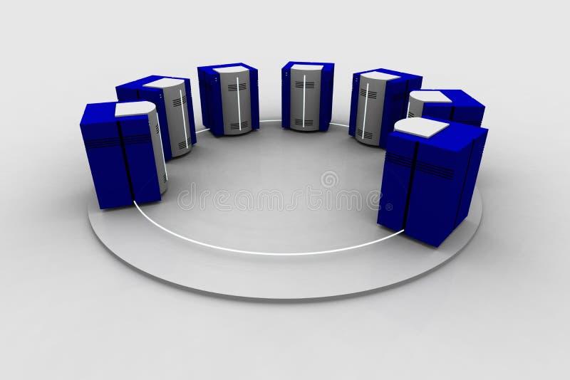 nätverk 4 stock illustrationer