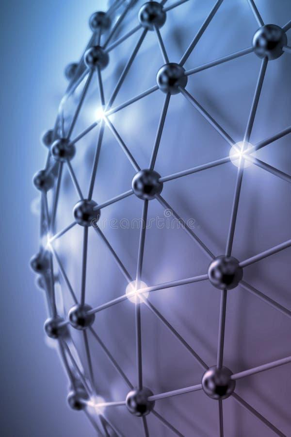 nätverk för abstrakt begrepp 3D fotografering för bildbyråer