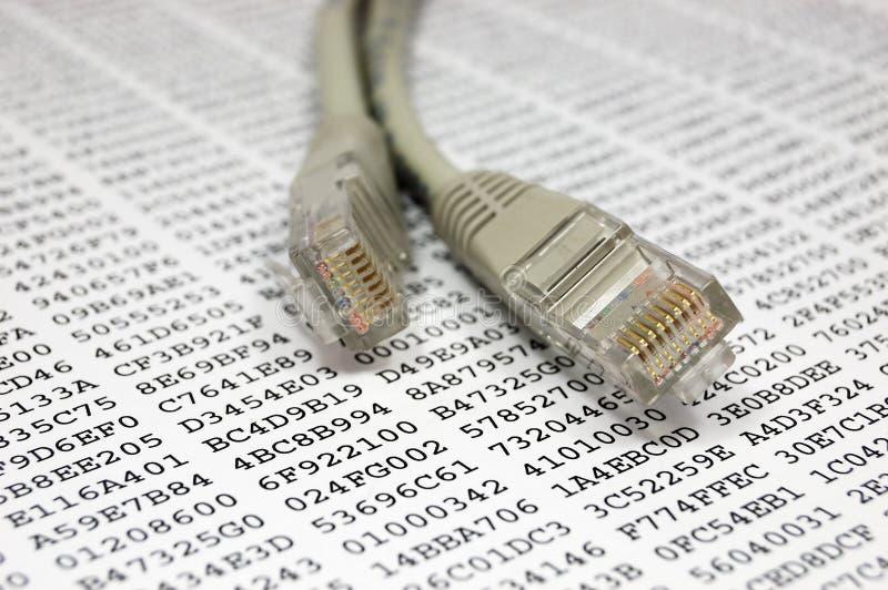 nätverk för kabelkrypteringtangent arkivbild