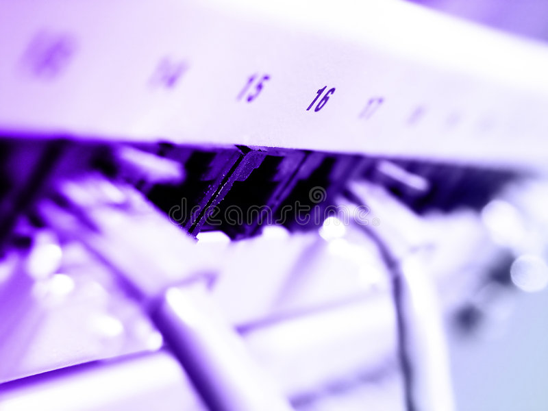 nätverk för LAN ii arkivfoto