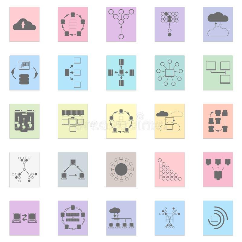 Nätverkandeinfographics stock illustrationer