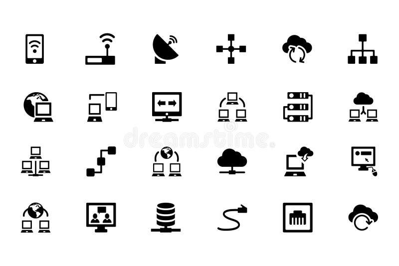 Nätverkandevektorsymboler 1 royaltyfri illustrationer