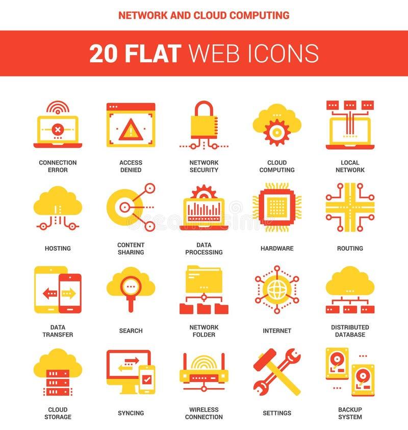 Nätverks- och oklarhetsberäkning royaltyfri illustrationer