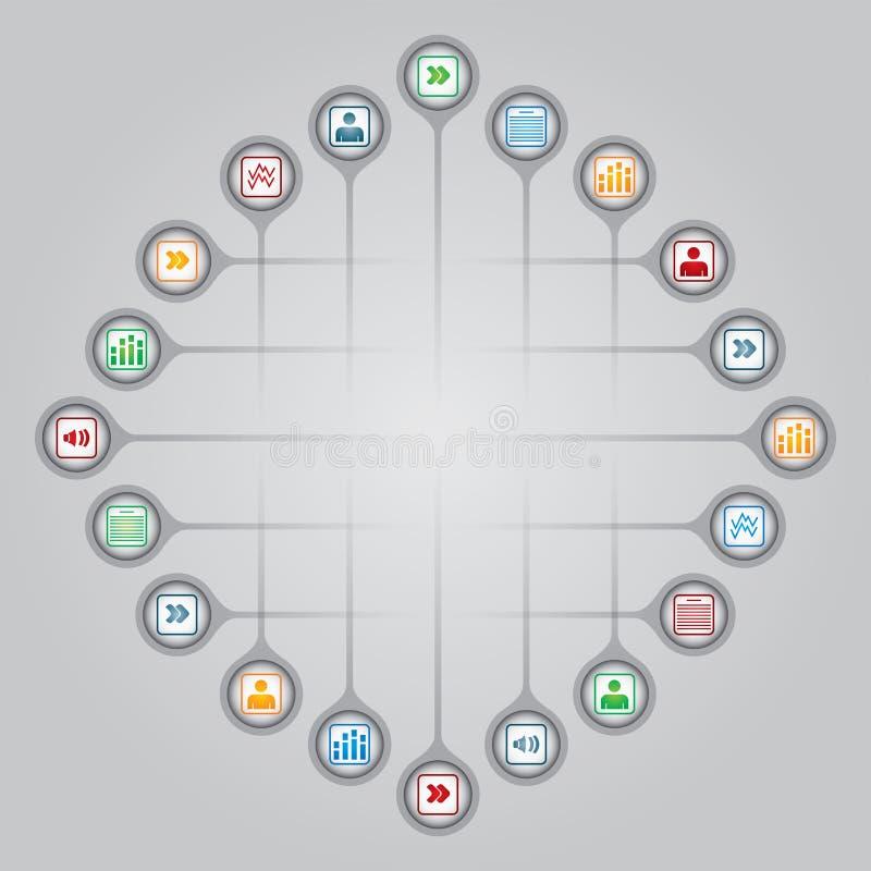 Nätverksbegrepp stock illustrationer