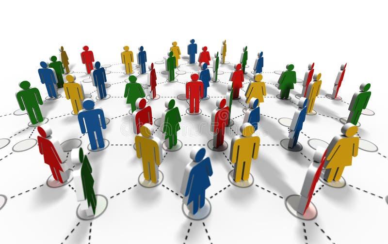 Nätverksgemenskap vektor illustrationer