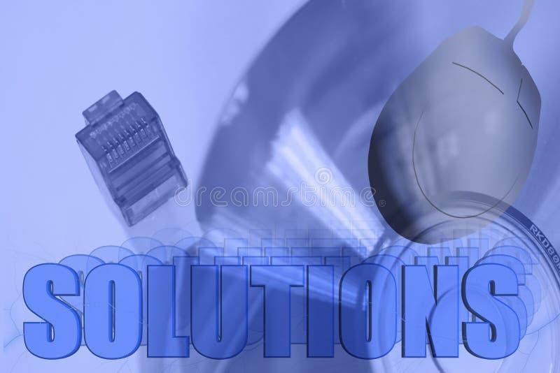 nätverkslösningar för illustration 3d vektor illustrationer