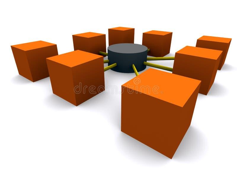 nätverksperspektiv royaltyfri illustrationer