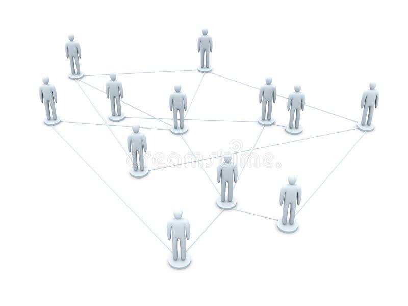 nätverkssamkväm stock illustrationer