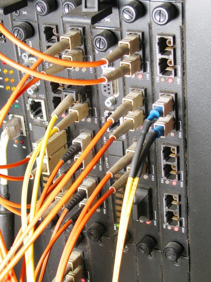 nätverksströmbrytare arkivfoto