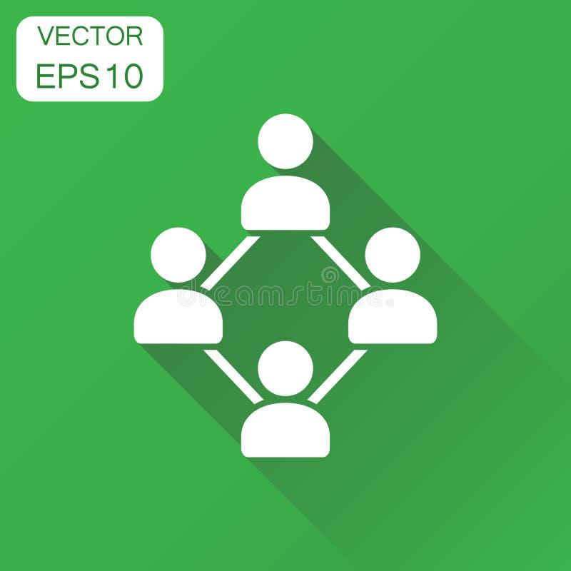 Nätverkssymbol Pictogram för affärsidéfolkanslutning Vect royaltyfri illustrationer