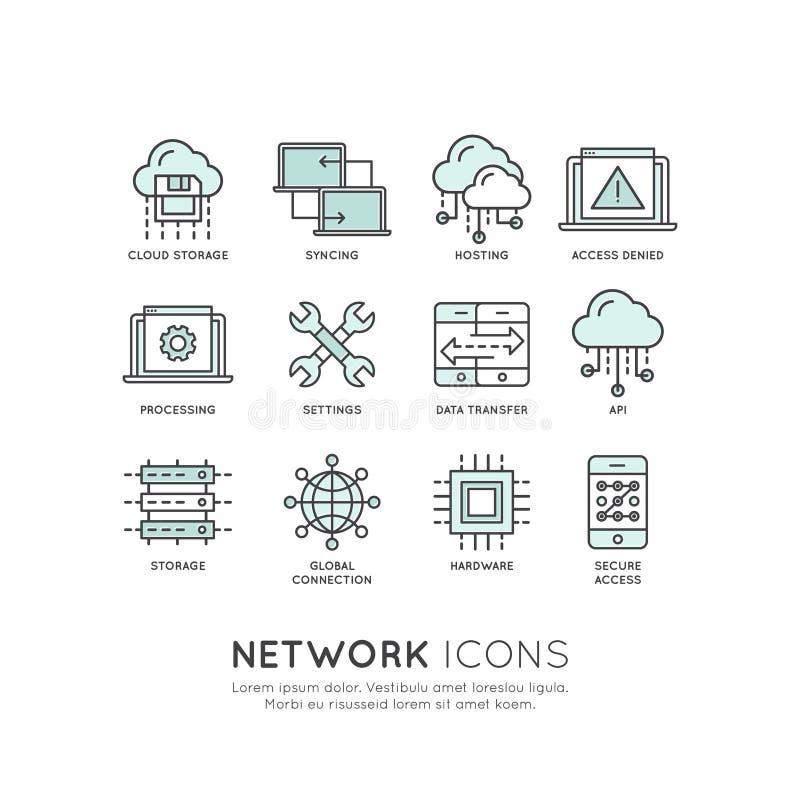 NätverksTecnology begrepp vektor illustrationer