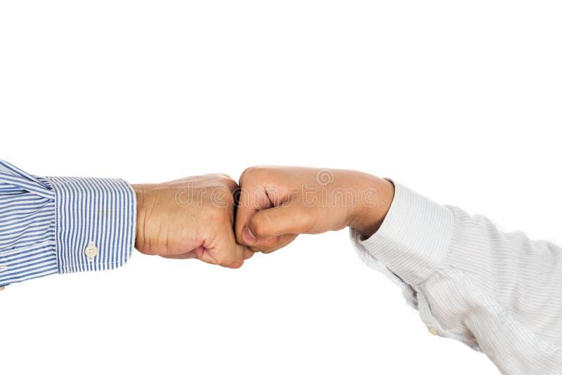 Nävebula på formella kläder och att göra en gest en överenskommelse och ett samarbete arkivfoton