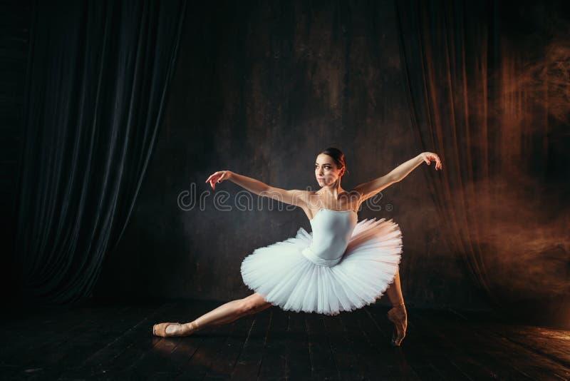 Nåd av ballerina i rörelse på scenisk etapp arkivfoton