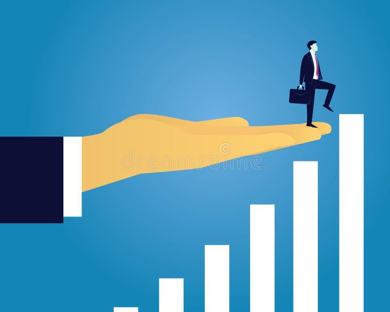 Nående framgångbegrepp för affär vektor illustrationer