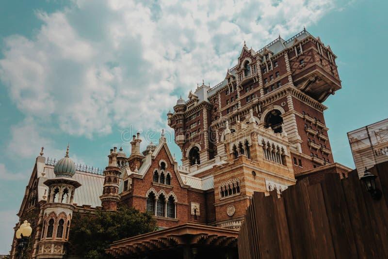 Någon byggnad i det Tokyo Disney havet royaltyfria foton
