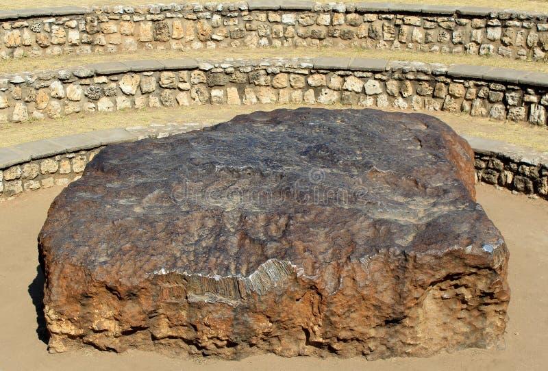 någonsin funnen störst meteorite för hoba arkivfoto