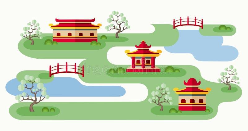 Någonstans i Japan vektor illustrationer