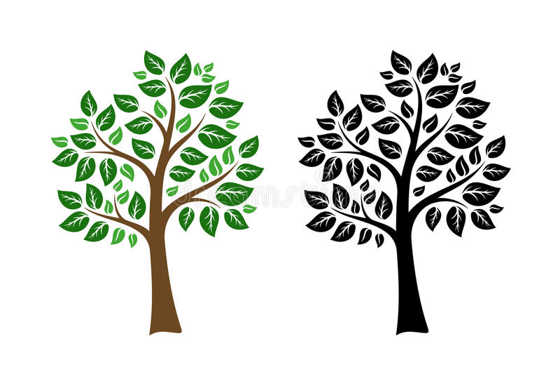 några är kan skalapd formatet för illustrationbildförlust det upplösning till treevektorn vektor illustrationer
