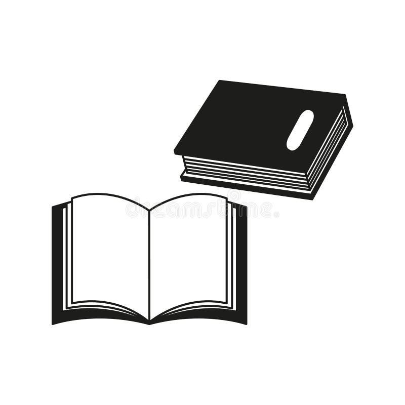 Några böcker av den svarta symbolen eller en eBook läste vektor illustrationer