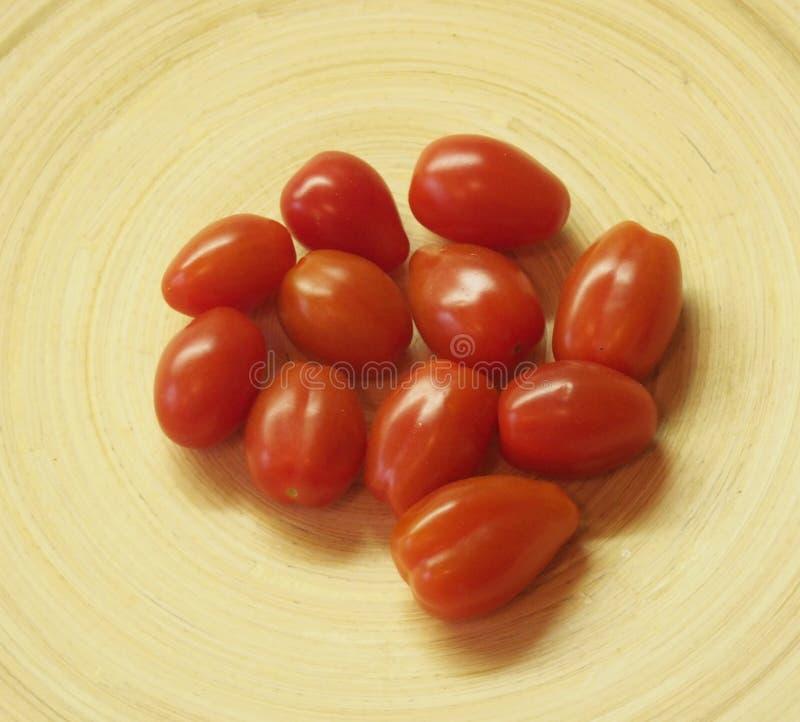 Några datum-tomater royaltyfria bilder