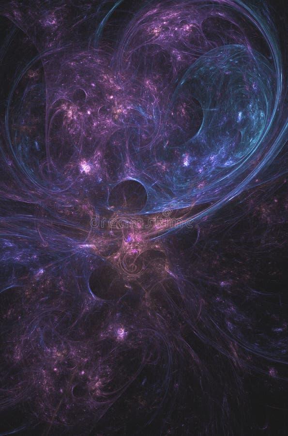 Nébuleuse colorée de l'espace avec des éclats d'énergie photos libres de droits