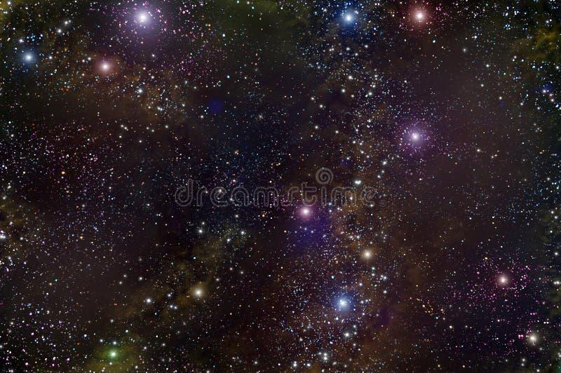 Nébuleuse d'étoile d'espace lointain d'univers image stock