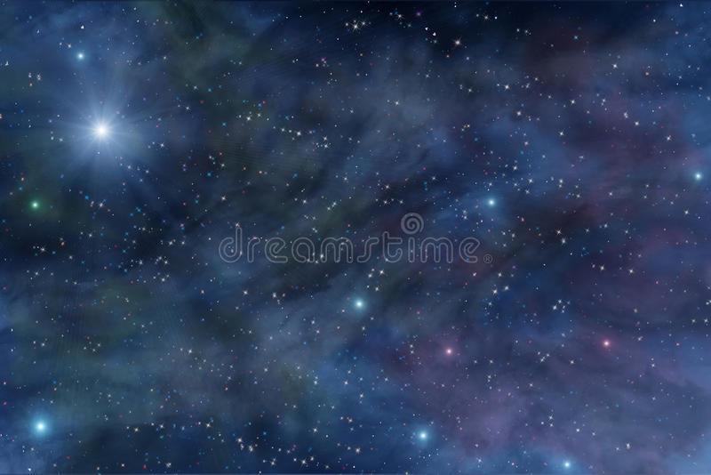 Nébuleuse d'étoile d'espace lointain d'univers image libre de droits