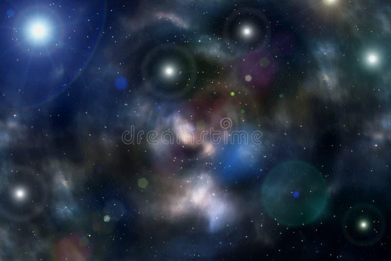 Nébuleuse d'étoile d'espace lointain d'univers de fond illustration libre de droits