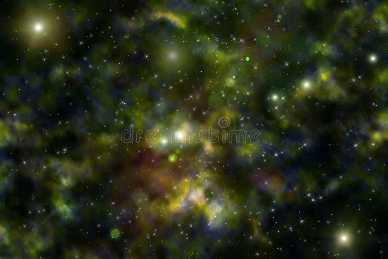 Nébuleuse d'étoile d'espace lointain d'univers de fond illustration stock