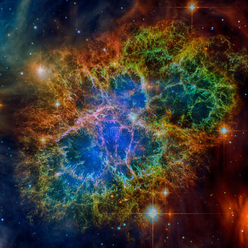 Nébuleuse de crabe Éléments de cette image meublés par la NASA image libre de droits
