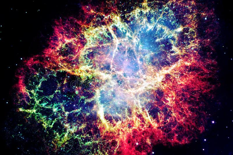 Nébuleuse de crabe Éléments de cette image meublés par la NASA photo stock