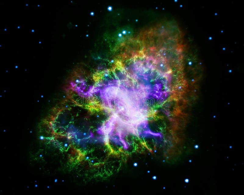 Nébuleuse de crabe Éléments de cette image meublés par la NASA illustration stock