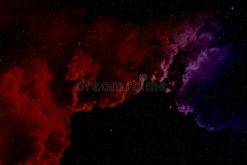 Nébuleuse et étoiles illustration de vecteur