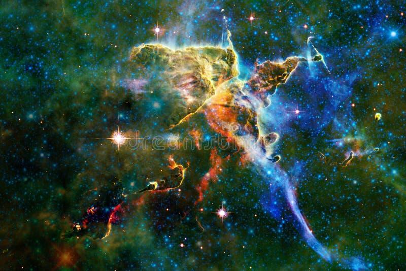 Nébuleuse impressionnante Milliards de galaxies dans l'univers photo stock
