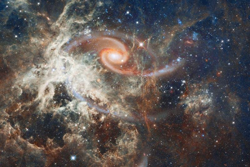 Nébuleuse un nuage interstellaire d'image d'espace extra-atmosphérique de la poussière d'étoile photographie stock