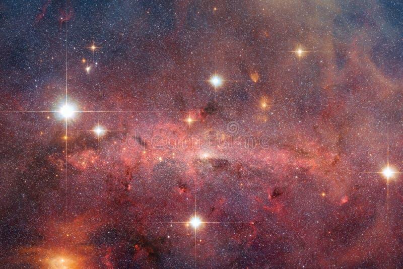 Nébuleuses, galaxies et étoiles en belle composition Art d'espace lointain image libre de droits