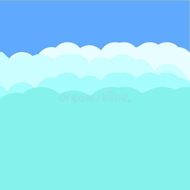 N?bulosit? de fond, ciel nocturne, fond bleu d'?toiles Illustration de vecteur illustration stock