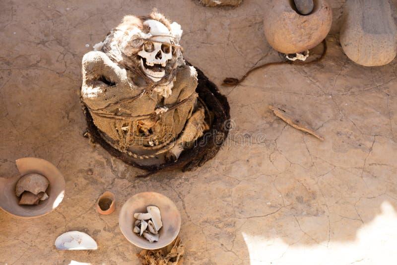 Nécropole de Chauchilla, ¹ de perà photographie stock libre de droits