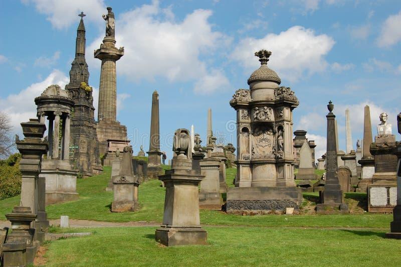 nécropole Ecosse de Glasgow images libres de droits