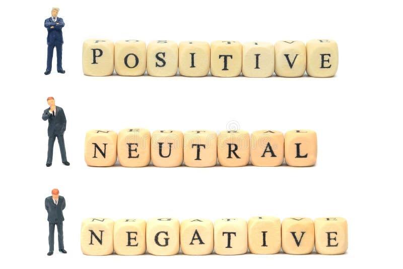 Négatif et neutre positifs image stock