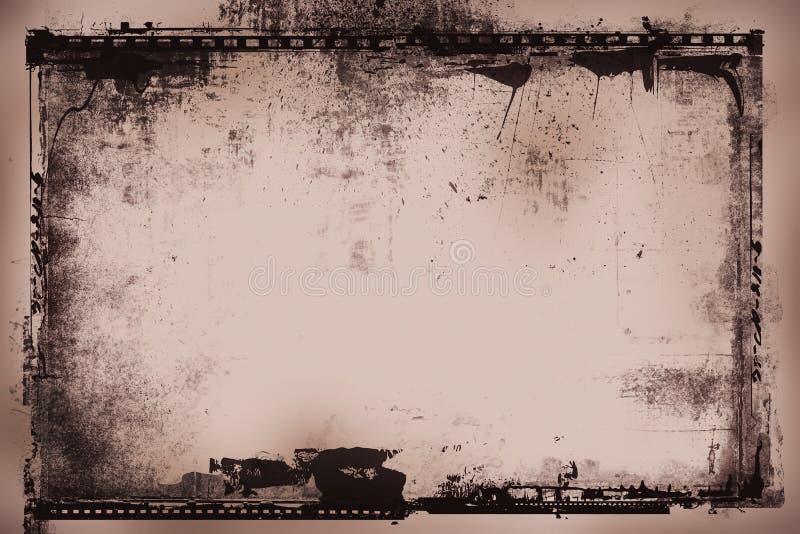 Négatif sur film grunge illustration de vecteur