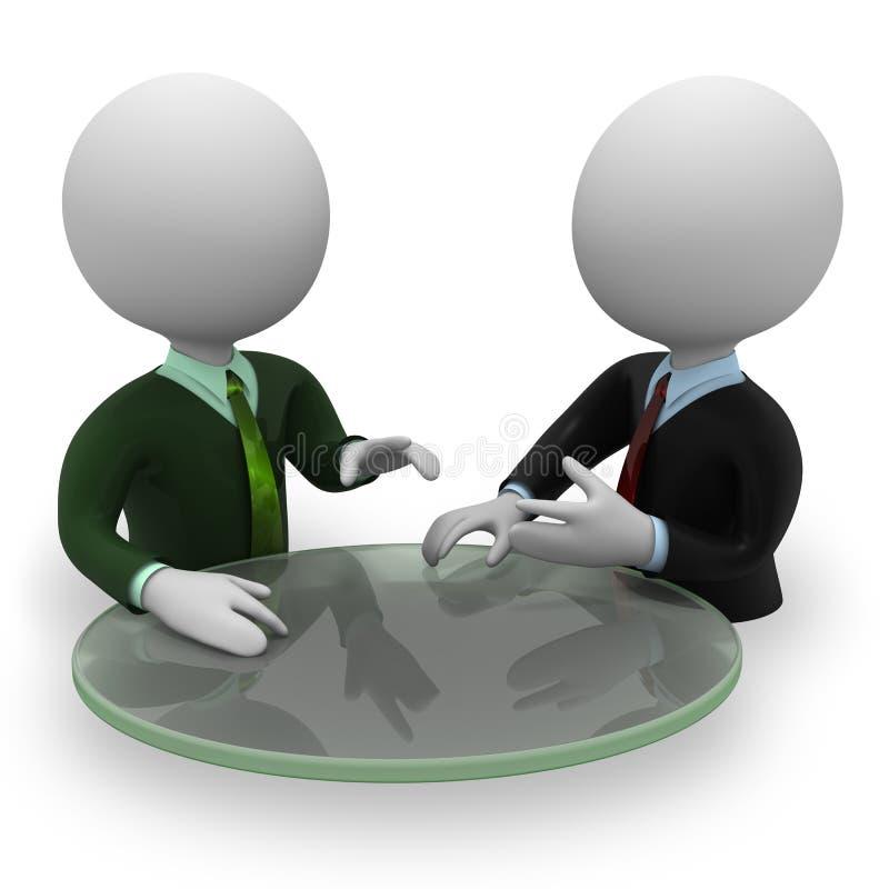 Négociation illustration libre de droits