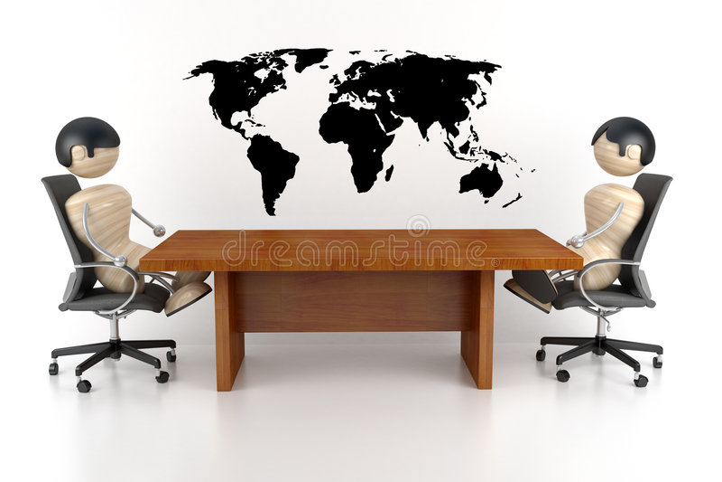 Négociations illustration libre de droits