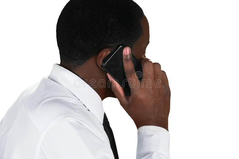 Négociations de téléphone images stock