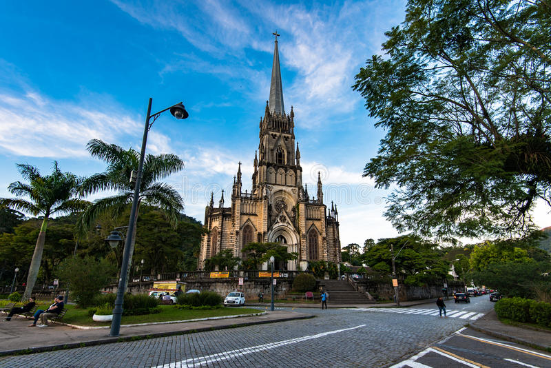 Néo- cathédrale gothique de style photos stock
