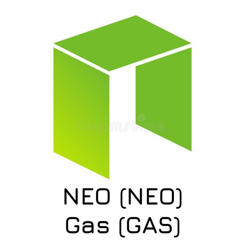 NÉO- NÉO- GAZ de gaz Illustration crypto c de vecteur illustration de vecteur