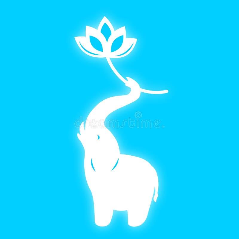 Néon bleu elefant de vecteur photo libre de droits