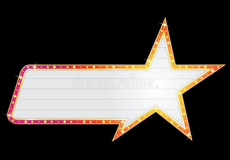 Néon da forma da estrela ilustração stock