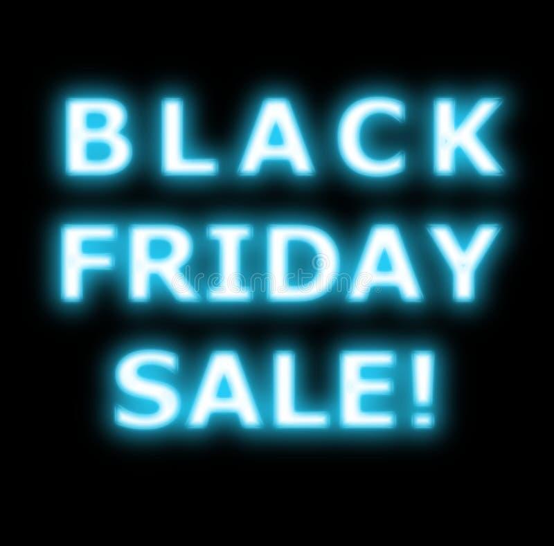 Néon da venda de Black Friday no preto foto de stock royalty free