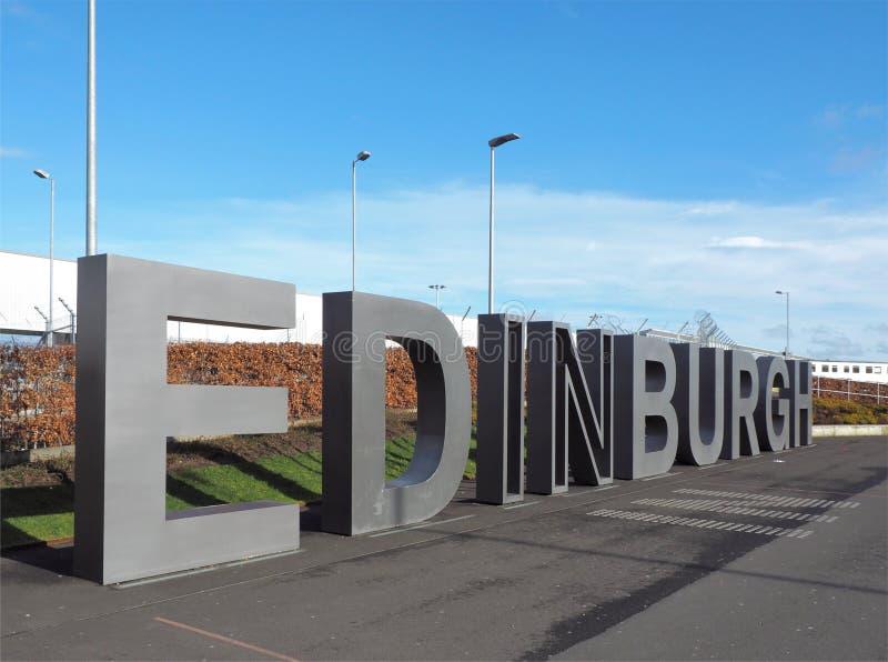 Néon de Edimburgo foto de stock royalty free